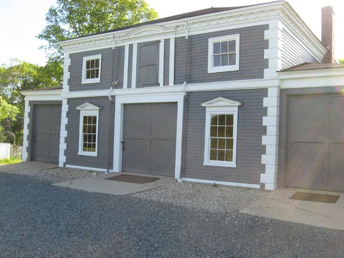 Carpenters Repair Barn Door At Codman Estate Historic New England