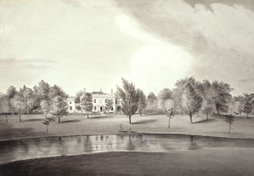 Waltham, MA. The Vale, by Alvan Fisher, 1820-25.