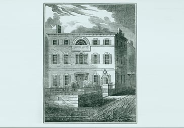 Woodcut of Harrison Gray Otis House, Boston, Mass. Copied from T