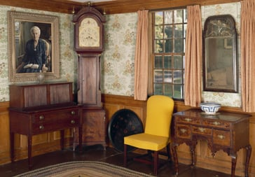 Winslow Crocker House, Yarmouthport, MA. Parlor