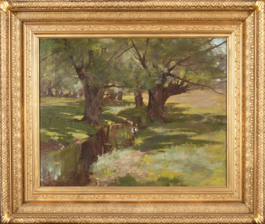 Historic New England Acquires Laura Coombs Hills Painting For Eustis Stunning Interior Design Programs Boston Painting