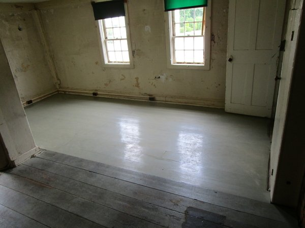 Hall floor after repairs were completed.