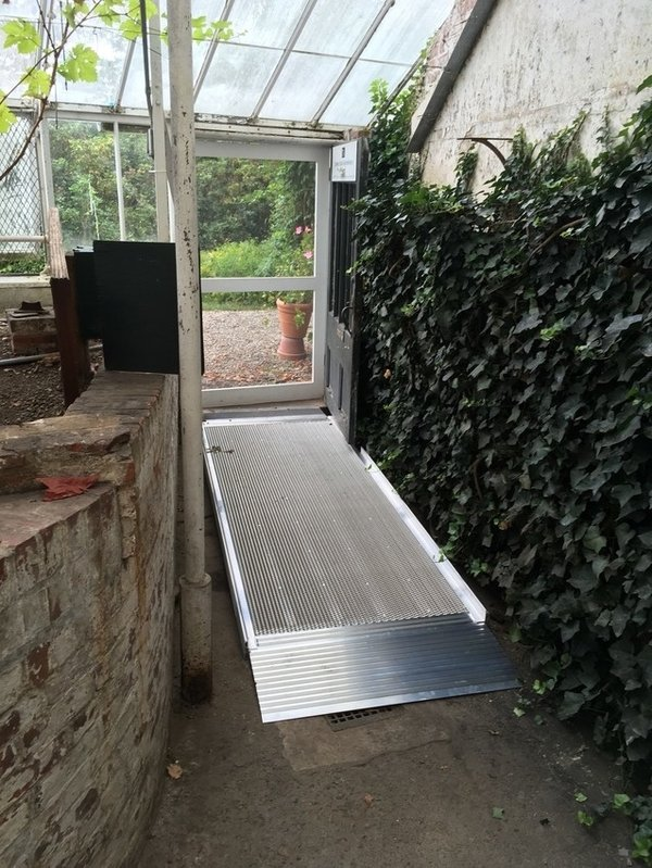 New sloped walkway into the westernmost Grape House